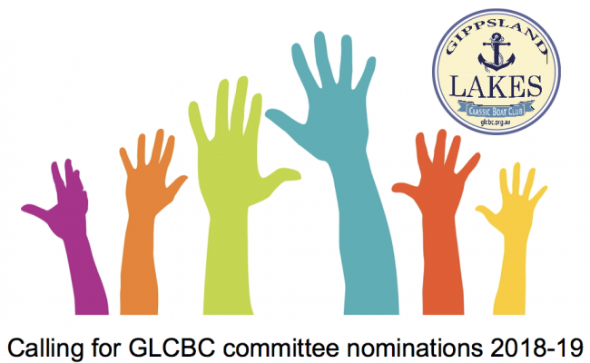 GLCBC committee nominations 2018 – 2019 year.