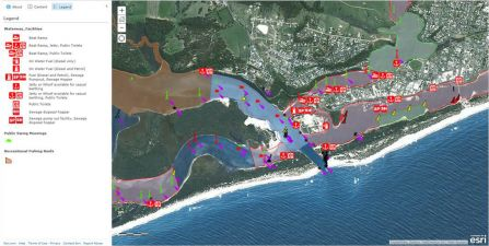 ArcGIS Gippsland Lakes Online Interactive Mapping Tool