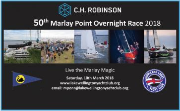 50th Marlay Point Overnight Race will be held on 10th & 11th March 2018